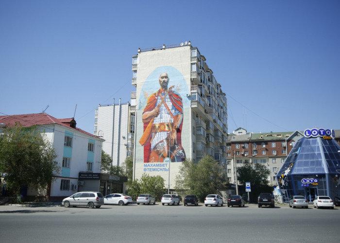 """""""Я рисую,я тебя рисую"""": Рисунками  Street-art  дизайнеры украсили несколько домов Атырау, фото-2"""