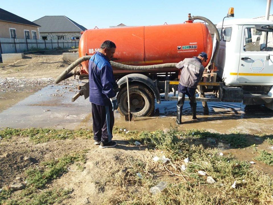 В Атырауской области несколько раз прорвало водопровод (фото), фото-2