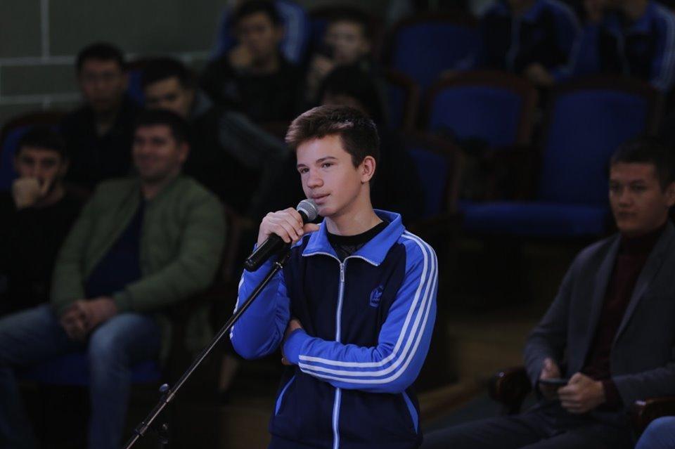 Отец и тренер Хабиба Нурмагомедова встретился с молодежью Атырау (фото), фото-7