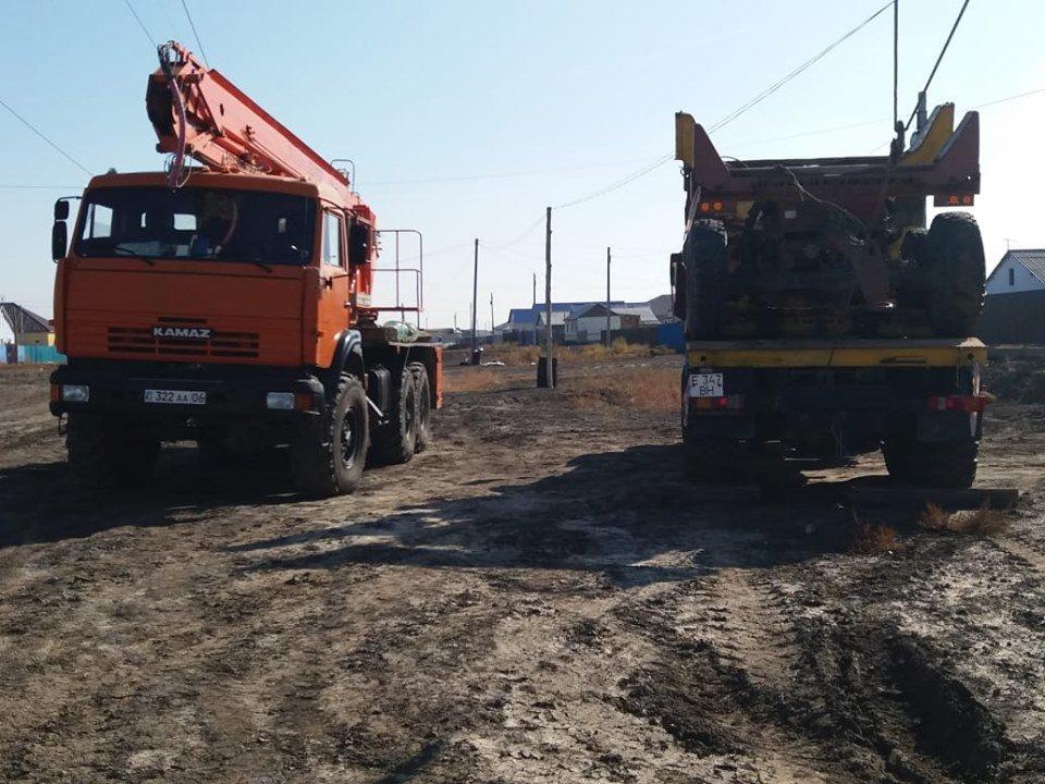 Водопровод повредили в Атырауской области (фото), фото-1