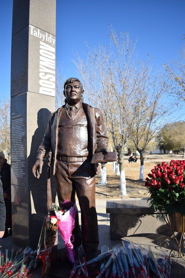 В Атырауской области были установлены памятники Мурату Монкеулы и Табылды Досымову, фото-7