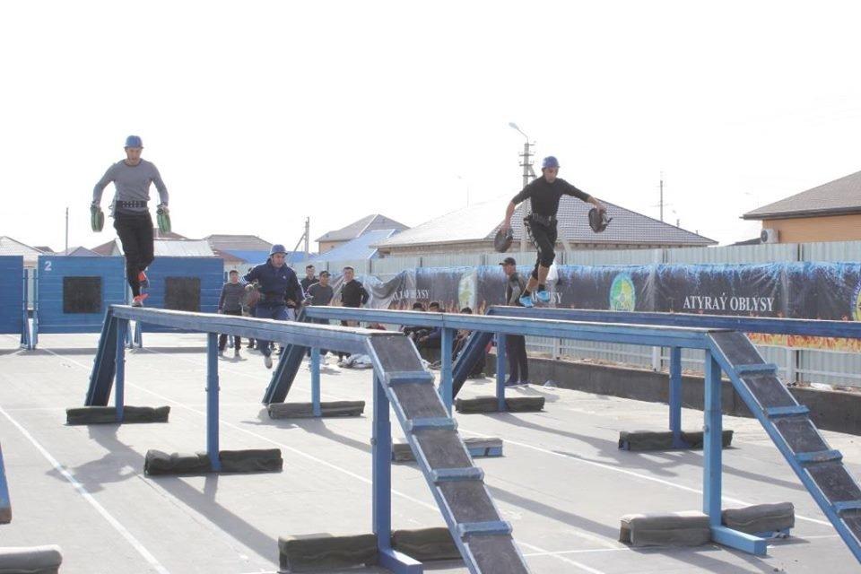 Соревнования пожарных прошли в Атырау (фото), фото-1