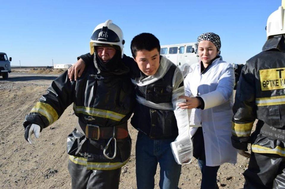 Республиканские учения спасателей проходят в Атырауской области (фото), фото-4