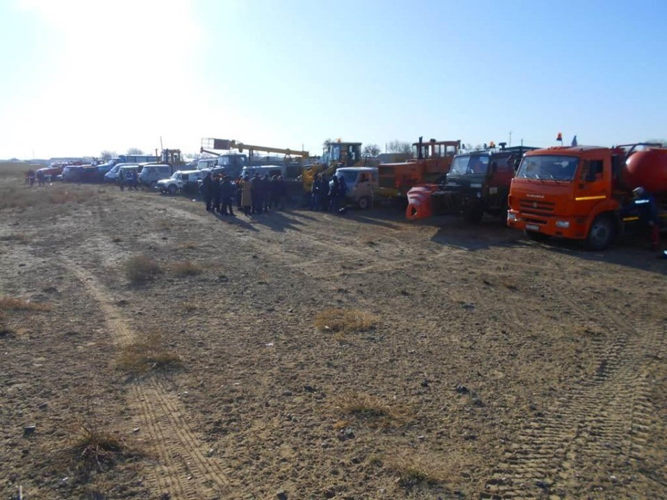 Республиканские учения спасателей проходят в Атырауской области (фото), фото-7