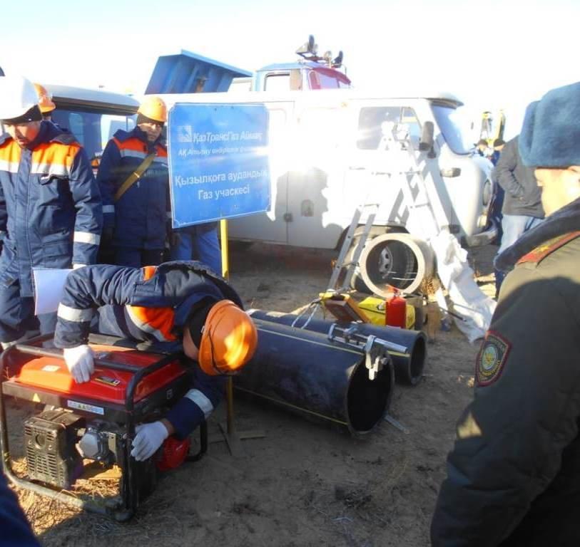 Республиканские учения спасателей проходят в Атырауской области (фото), фото-9