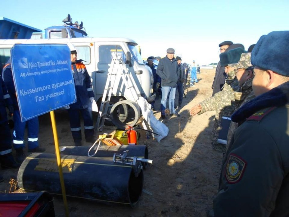Республиканские учения спасателей проходят в Атырауской области (фото), фото-10
