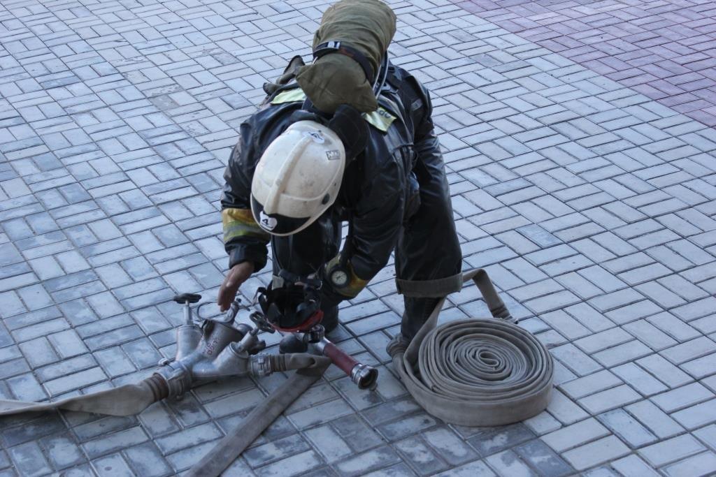 Пожарные Атырау провели учения в НИШ (фото), фото-6