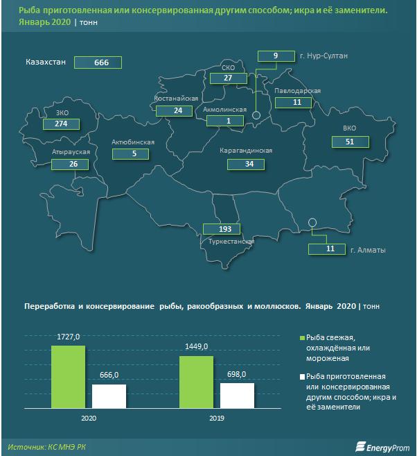 Атырауская область не вошла в число лидеров по производству переработанной рыбы и икры, фото-1
