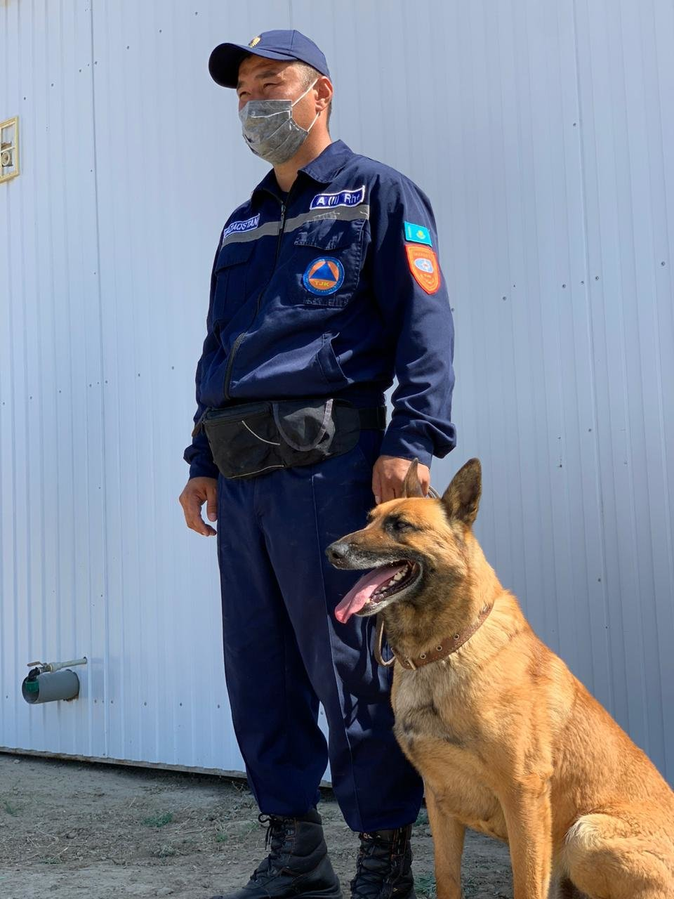 Тренировочные сборы служебных собак проводят в Атырауской области. Фото, фото-5