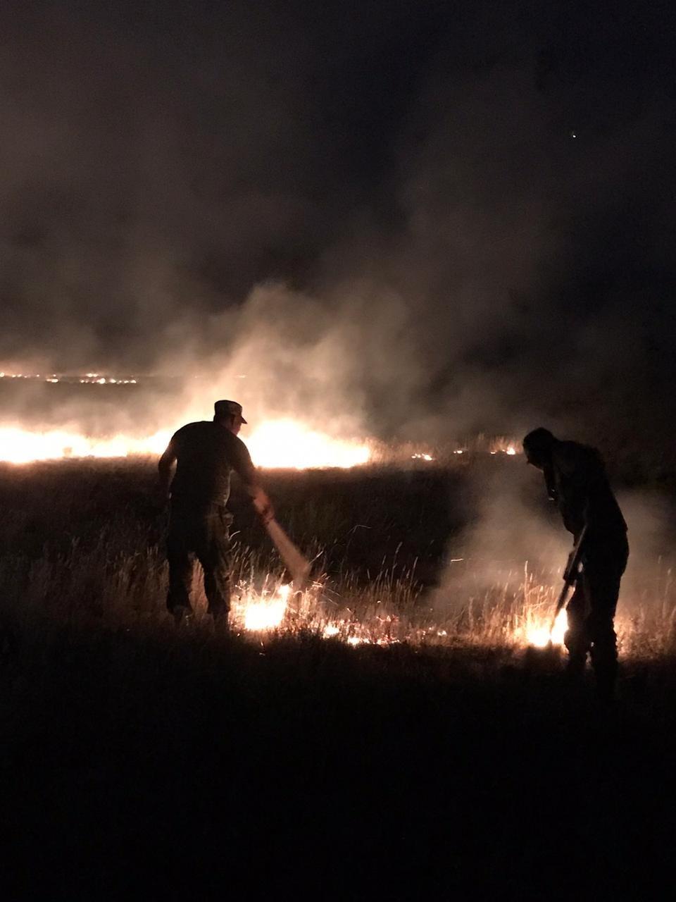 Степной пожар произошел в Кызылкугинском районе Атырауской области, фото-1