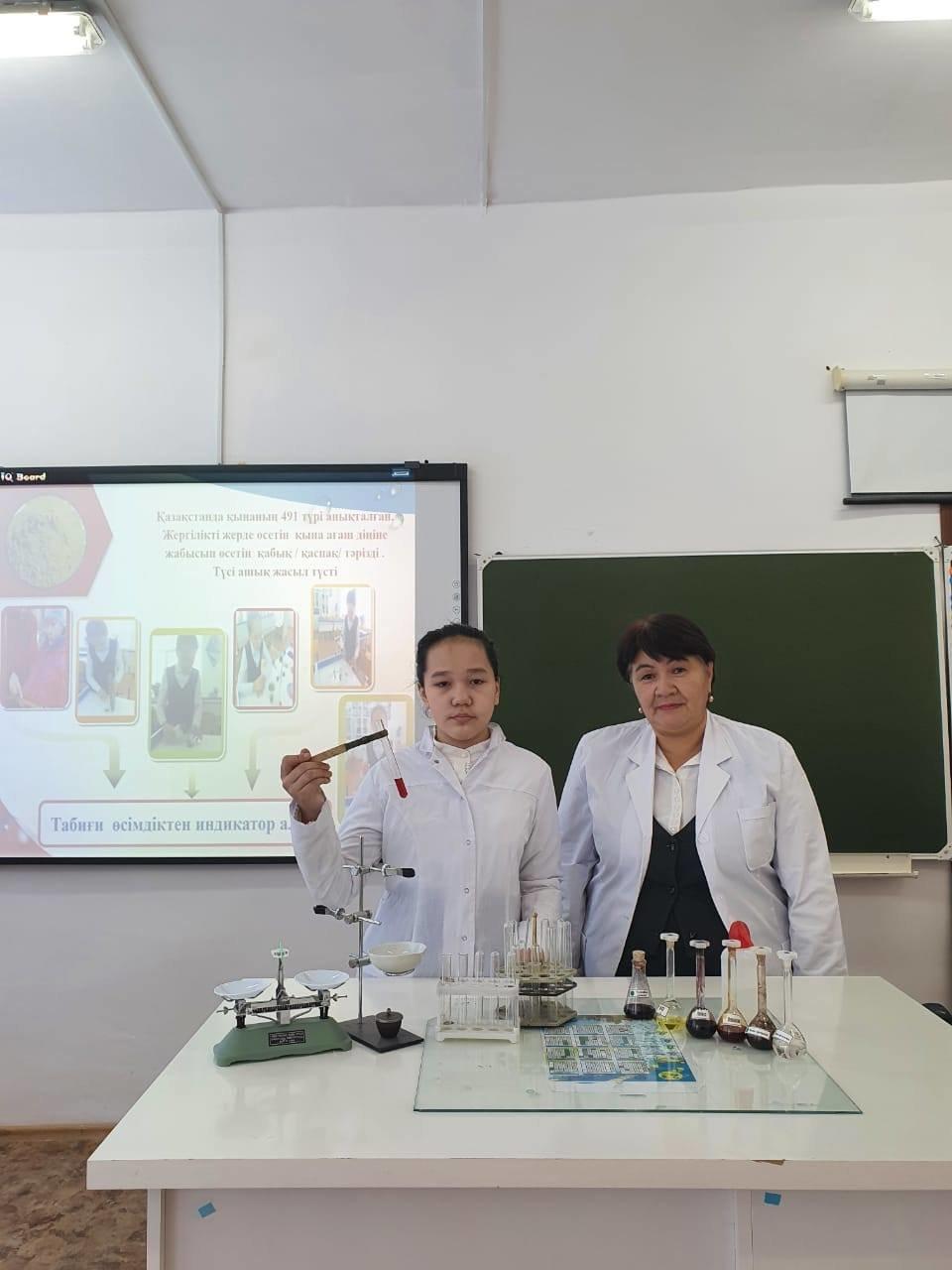 Школьница из Атырау представила способ получения красителей из растений, фото-1, Региональная служба коммуникаций Атырауской области
