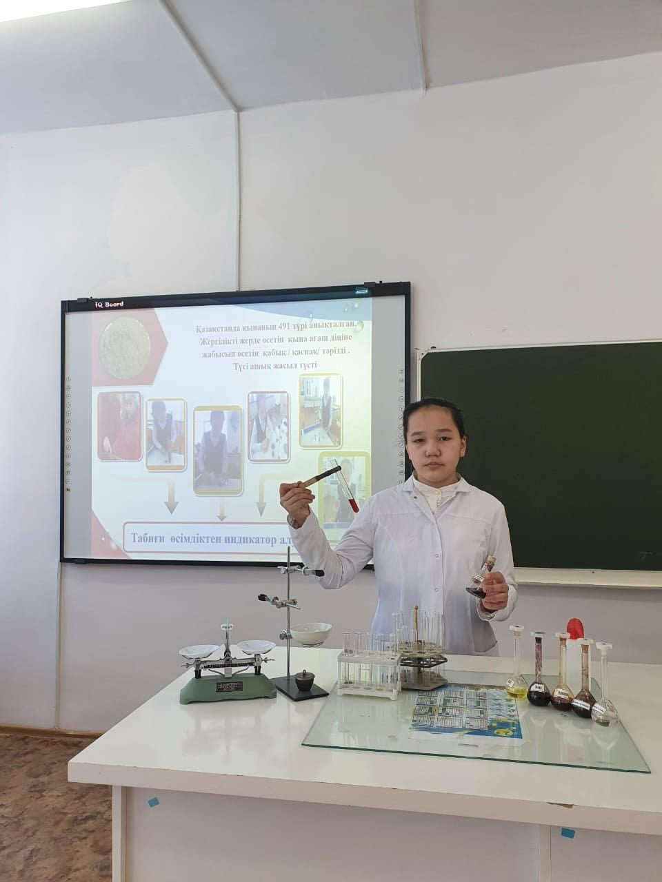 Школьница из Атырау представила способ получения красителей из растений, фото-2, Региональная служба коммуникаций Атырауской области