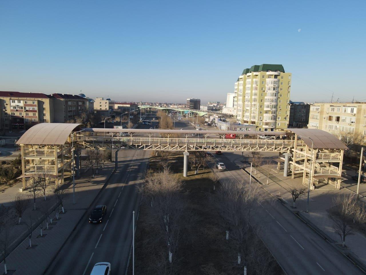 Пешеходный мост открыли в Атырау